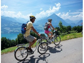 Cycle to the Lakes of Idyllic Alps